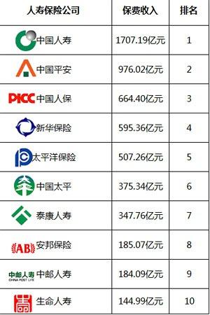 中国人寿保险公司排名前十名